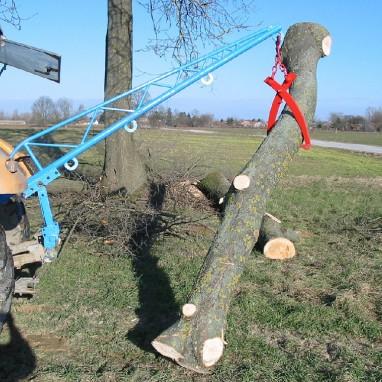Poluga za drvo i škare